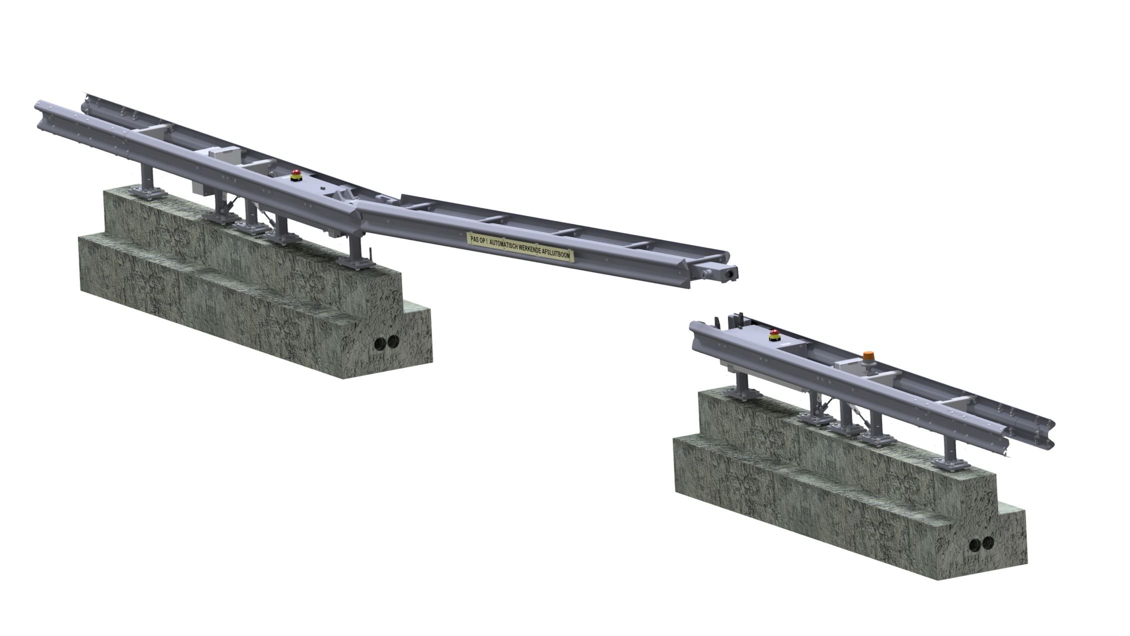 6 meter hydraulic CADO guide rail SPIE