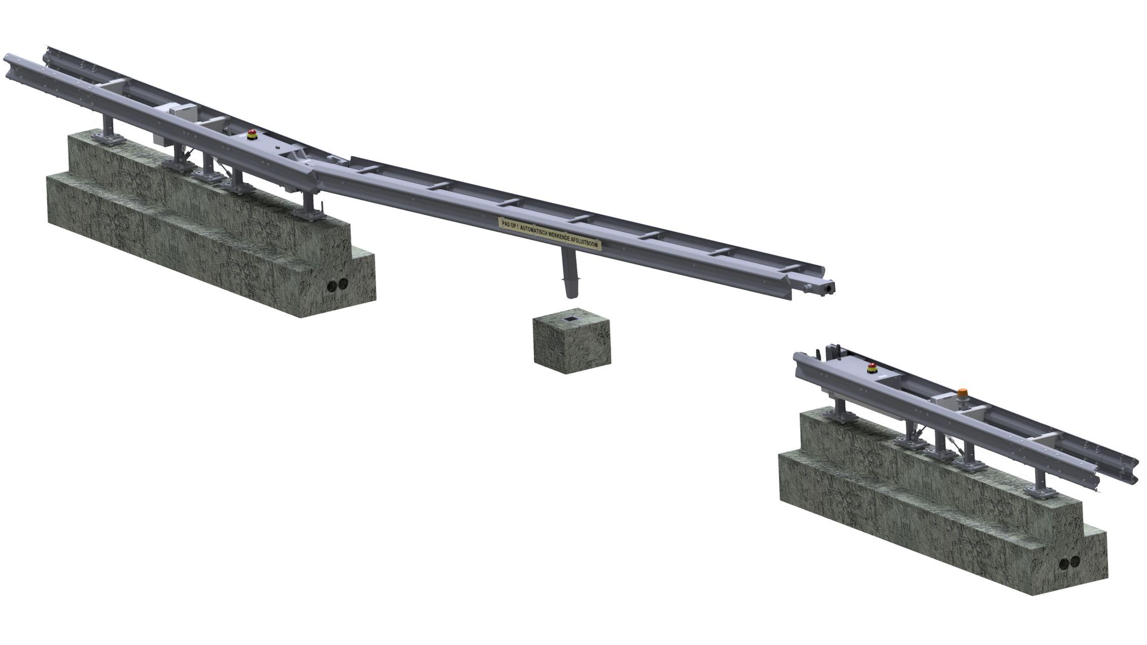 9 meter hydraulic CADO guide rail SPIE