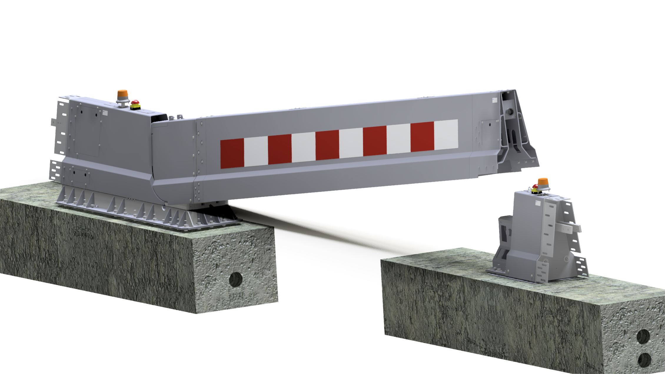 6 meter electrical CADO emergency barrier SPIE