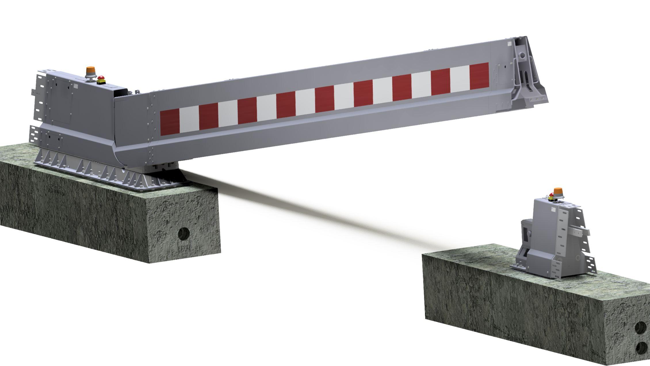 9 meter electrical CADO emergency barrier SPIE