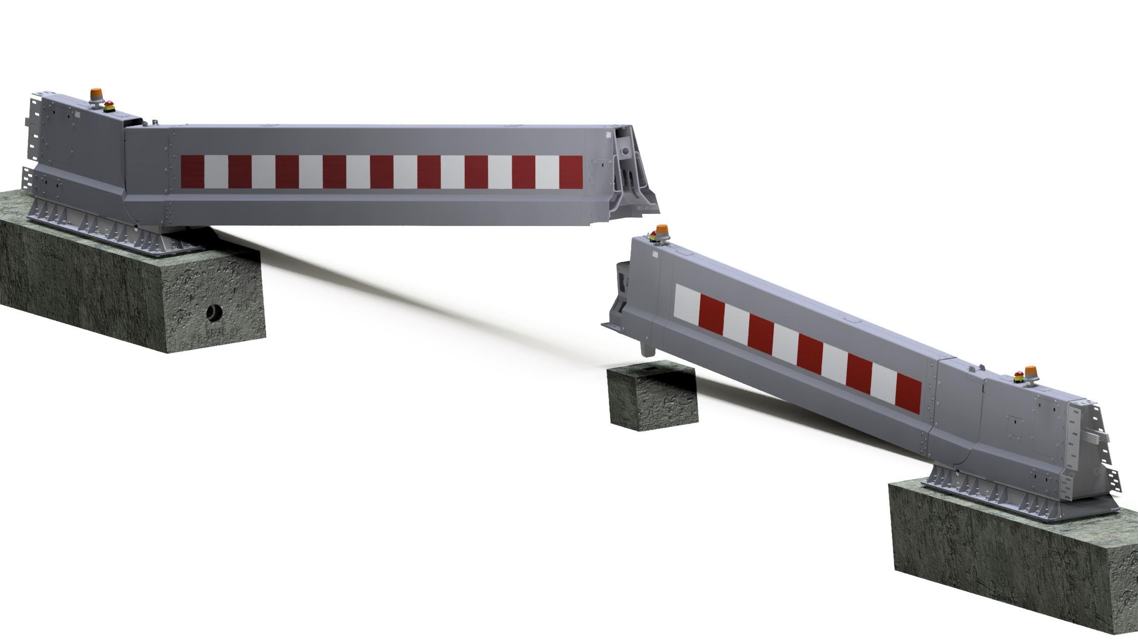 15 meter duo electrical CADO emergency barrier SPIE